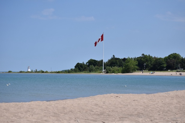 Main beach flagpole